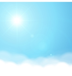 Sun and sky background vector image vector image