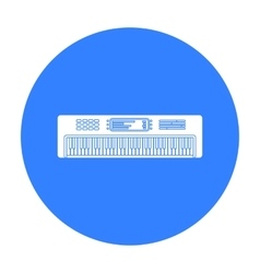 Synthesizer icon in black style isolated on white vector image vector image