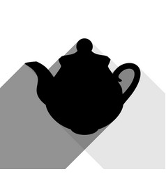 tea maker kitchen sign black icon with vector image