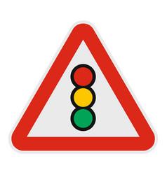 traffic light icon flat style vector image