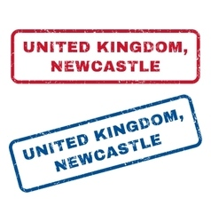 United kingdom newcastle rubber stamps vector