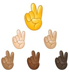 Victory hand emoji vector