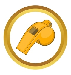 Whistle of referee icon vector