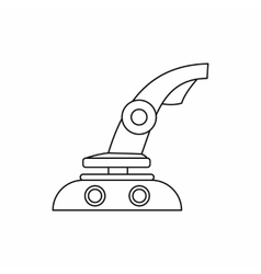 Computer video game joystick icon outline style vector