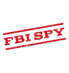 Fbi spy watermark stamp vector