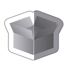 Silver box opened icon vector