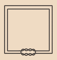 Sailor rope knot picture frame vector