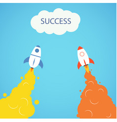 rocket and the space rocket launch concept start vector image