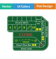 craps table icon vector image