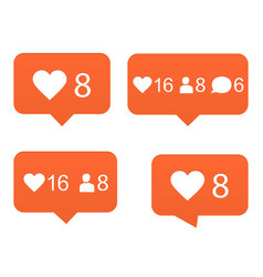 Likes set of counter notification vector