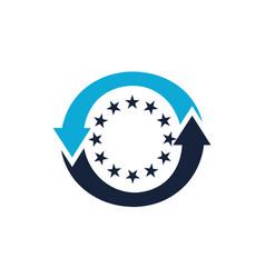 europe exchange vector image