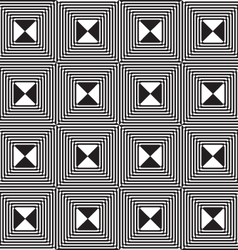 Black and white alternating squares four ray cut vector