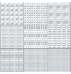 Abstract white and grey rectangle geometric bricks vector