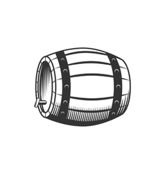 Beer wine barrel vector