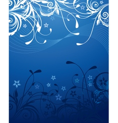 Blue floral background vector