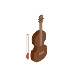 Violin isometric 3d icon vector