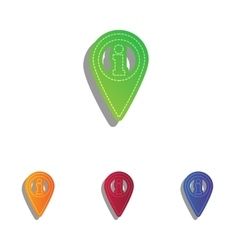 Map pointer with information sign colorfull vector