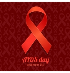 AIDS Day Card vector image