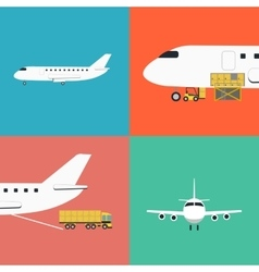 Air shipping and logistics icon set vector