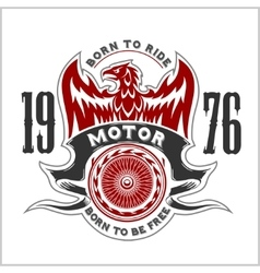 American eagle motorcycle club emblem vector