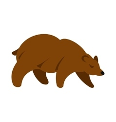 Brown bear icon flat style vector