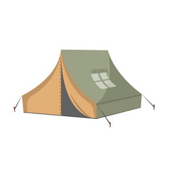 Campsite tent isolated icon vector