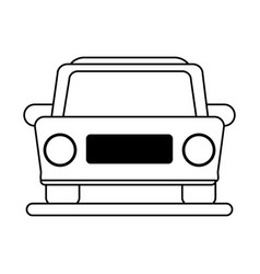 Car frontview icon image vector