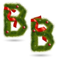 Christmas alphabet b vector