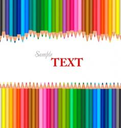 color pencils vector image vector image