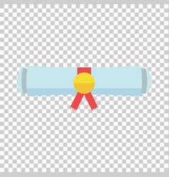 Diploma rolled scroll flat design icon finish vector