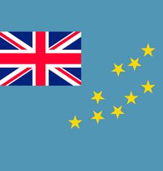 Flag tuvalu islands flat style vector