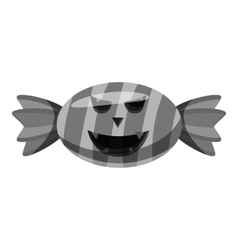 Halloween candy icon gray monochrome style vector image