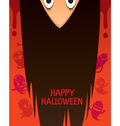 Halloween ghost with upside down head vector