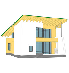 House on white vector