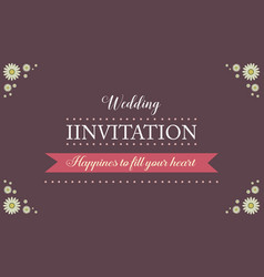 Invitation for wedding style collection vector