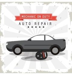 Key auto parts repair icon vector