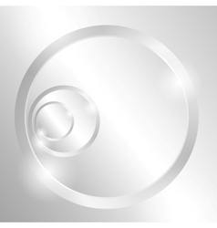 Metal background with circles vector image vector image