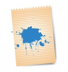 notepad with splatter vector image