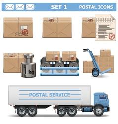 Postal Icons Set 1 vector image vector image