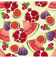 red fruits seamless vector image vector image