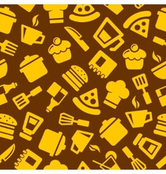 Seamless Kitchen Pattern vector image vector image