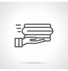 Service linens black line icon vector image