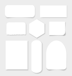 set of white sheets of paper vector image