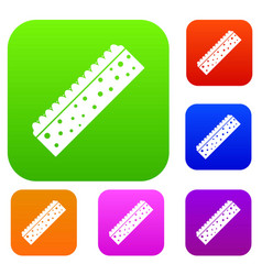 sponge for cleaning set color collection vector image
