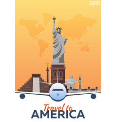 Travel to america new york travel vector