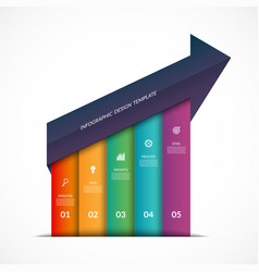 up arrow infographic template vector image