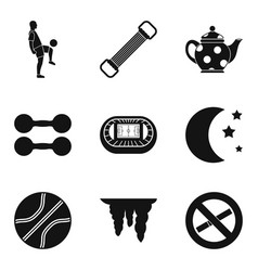 World sport icons set simple style vector