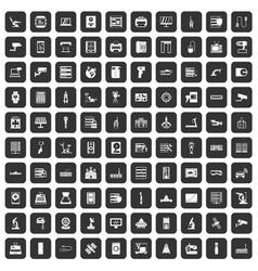 100 hardware icons set black vector