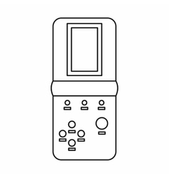 Tetris portable game icon outline style vector