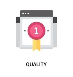 Quality icon concept vector